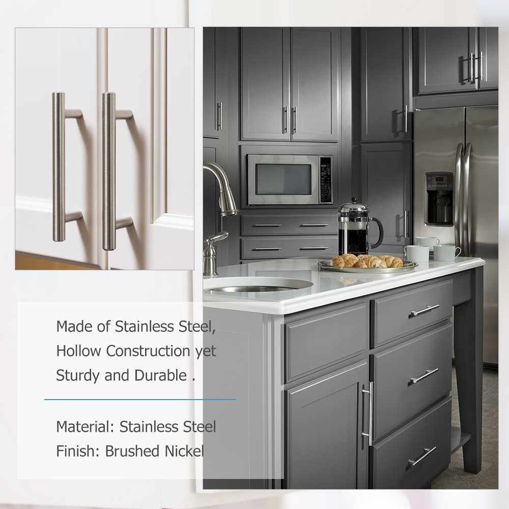5 Pack Brushed Nickel Cabinet Pulls Knobs Kitchen Drawer Pulls
