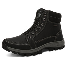 Mens Boots Fashion Super Warm Winter Shoes Outdoor Men Casual Brand Snow Keep Ankle Size 39-45 %A9718