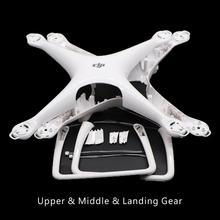 Genuino Phantom 4 Pro Parte Corpo Borsette Metà Superiore Della Copertura Landing Gear Parte di Ricambio 5 6 7 per DJI phantom 4 Pro Drone di Riparazione