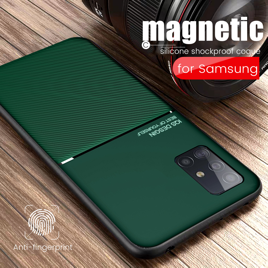 silicone magnetic car holder cover for samsung a51 a71 case for galaxy a10 <font><b>a20</b></font> a30 a50 a30s a50s a70 a70s shockproof coque <font><b>capas</b></font> image