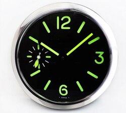 Reloj de pared redondo de Metal grande, Relojes de pared, decoración del hogar, relojes modernos silenciosos, dormitorio de lujo, luminov Horloge Mural, regalo para el hogar L002