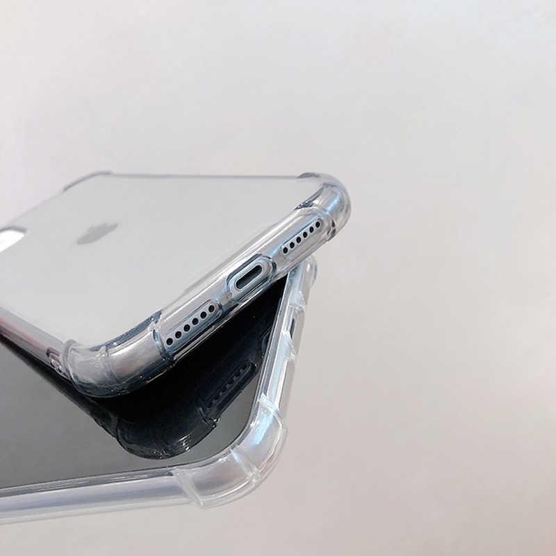 โทรศัพท์โปร่งใสสำหรับ iPhone 11 11Pro MAX XR XS MAX X XS 7 8 6 6S PLUS soft TPU ฝาครอบกันชนสำหรับ iPhone 11 11Pro