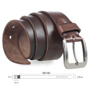 Image 4 - MEDYLA Men Top Layer Leather  Casual High Quality Belt Vintage Design Pin Buckle Genuine Leather Belts For Men Original Cowhide