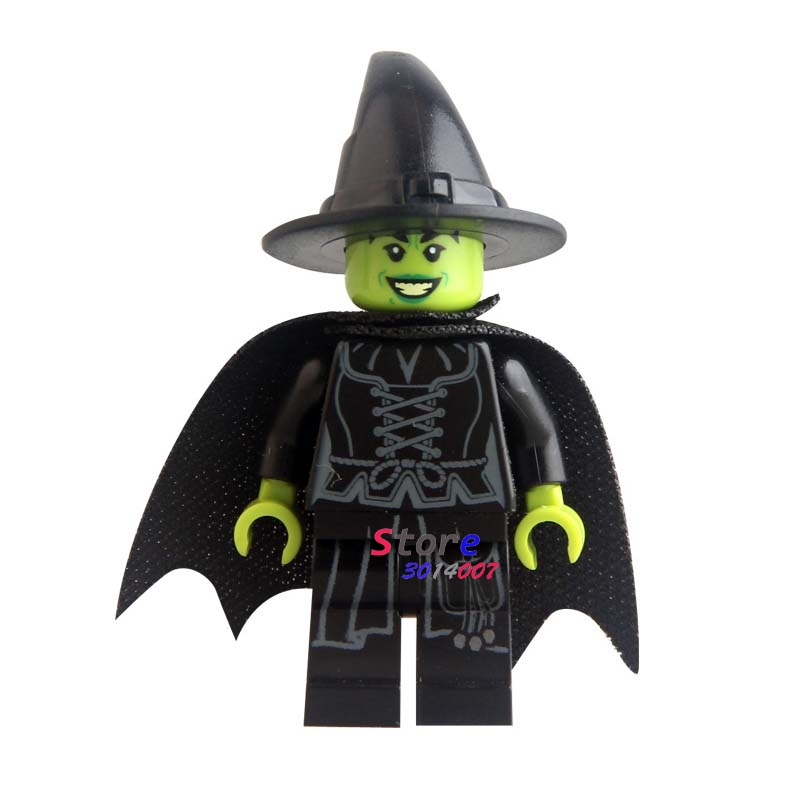 Single super heroes marvel dc Wizard of Oz Wicked Witch building blocks models bricks toys for children kits image