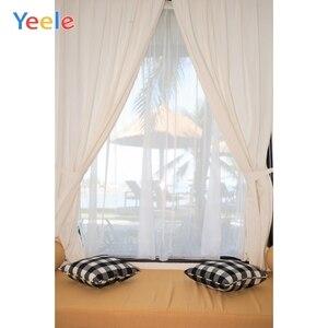 Image 4 - Yeele Window White Curtain Frame Wood Interior Scene Photography Backgrounds Customized Photographic Backdrops for Photo Studio