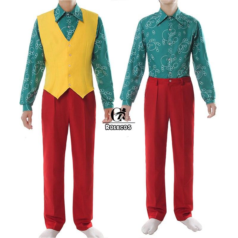 Rolecos Movie Joker Oorsprong Cosplay Kostuum Joker Arthur Fleck Cosplay Kostuum Fancy Rood Pak Halloween Mannen Outfit Clown Uniform - 4