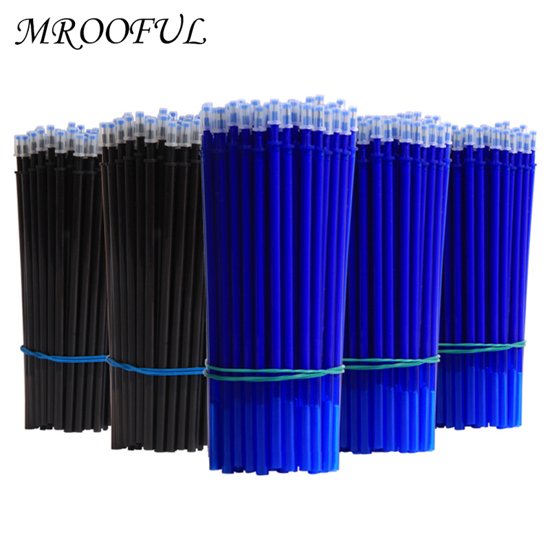 50+3pcs Erasable Pen Set 0.5mm Washable Handle Magic Erasable Gel Pen Refills Rod Blue Black Ink Pen Students Kawaii Stationery 1