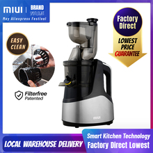 MIUI Slow juicer 7Lv Cold press extractor FilterFree patente Easy Clean 43rpm Large Diamete Quiete BPA Free 2020 Multi-color PRO