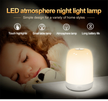 2020 LED Touch Control Night Light USB Rechargeable 3 Modes Dimmable Colorful Lights Baby Sleep Room Night Lamp Home Decor