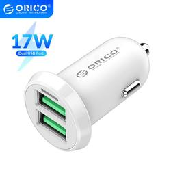 ORICO 17W 3.4A Car Charger Cigar Lighter Dual USB Fast Charging Charger Adapter For iPhone Xiaomi Redmi Huawei