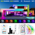 5M-30M Led Strip Lights Alexa Smart Voice Control Wifi Bluetooth 2835 5050RGBWW Led lights Waterproof Flexible Ribbon Tape Diode