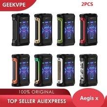 2 шт. Geekvape Aegis X Box Mod 200 Вт 2,0 как чипсет Водонепроницаемая электронная сигарета коробка VAPE Mod vs ageis solo/drag 2/shogun