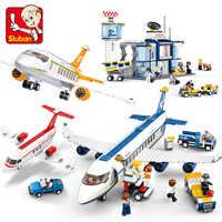 City Avion Technic avión de carga aeropuerto Airbus avión LegoINGs bloques de construcción conjuntos figuras Juguetes DIY Brinquedos niños Juguetes