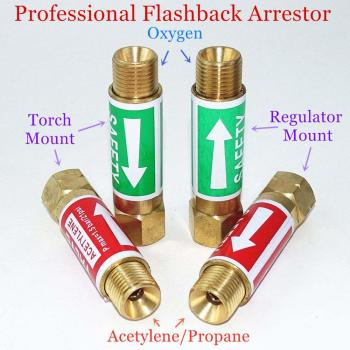 Flashback Arrestor Check Valve Flame Buster 9/16 3/8 M16 for Acetylene Propane Gas Blowtorch Welding Gun Cutting Torch 1 3 8 plunger check valve avoid direct contact between the torch flame and the valve body in any case replace superior valves