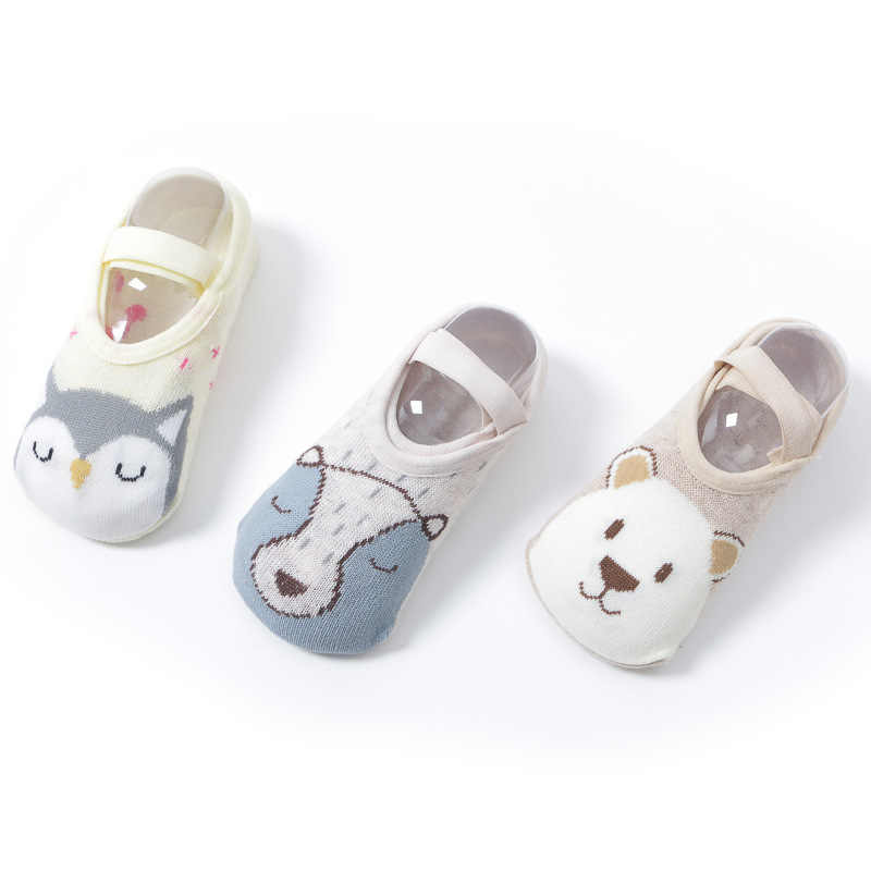 Cotton Baby Boy Girl Socks Floor Socks Cartoon Baby Children Animal Socks Spring Summer Autumn Floor Non-slip Anti-slip Socks