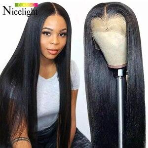 Nicelight бразильские прямые человеческие волосы парики 13x4 Синтетические волосы на кружеве парики для волос с детскими волосами природные Воло...
