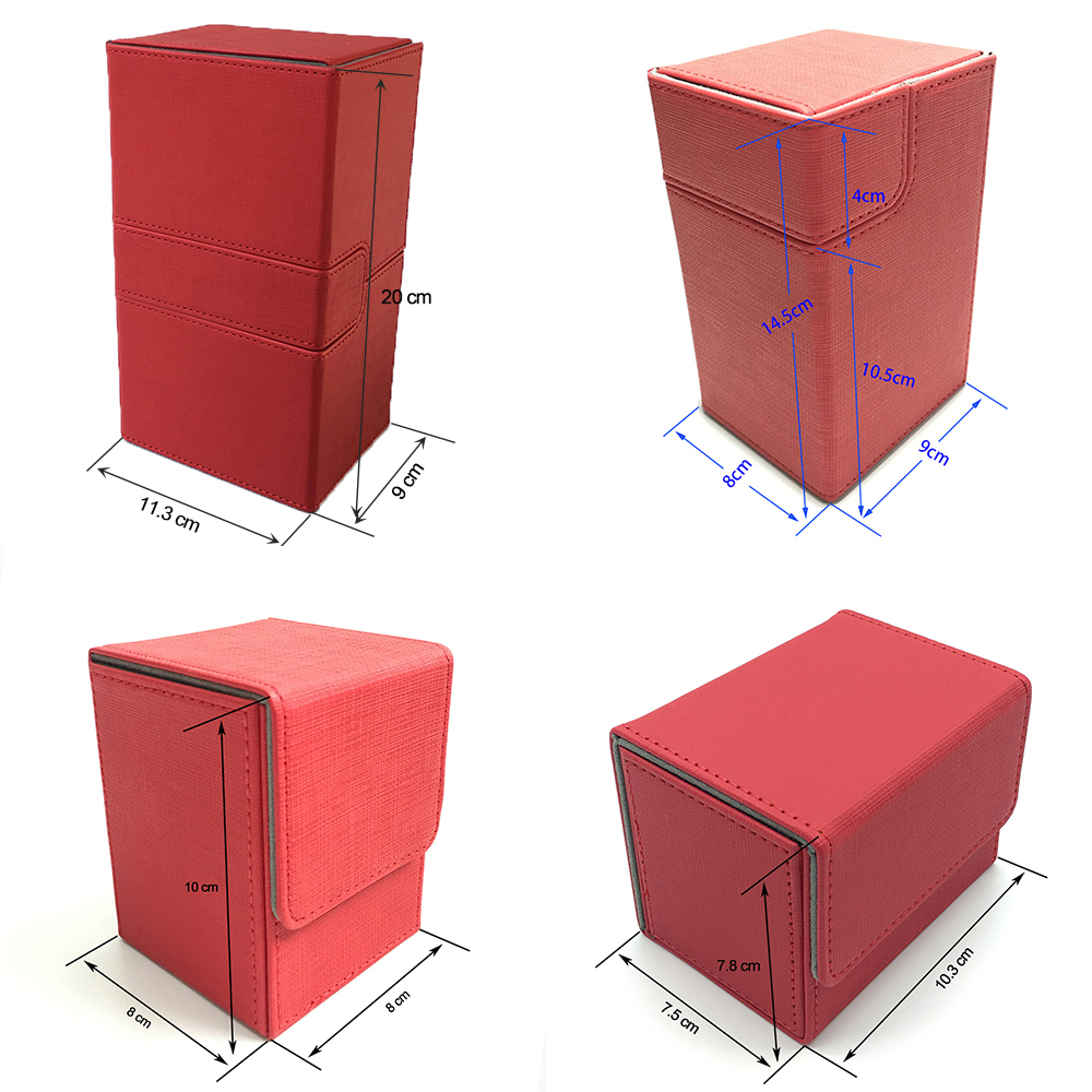 4 Styles Red Color Magic Deck Case, Magic/Pokemon/YuGiOh Deck Case Cards Board Game Card Holder Card Box Cards Container(China)