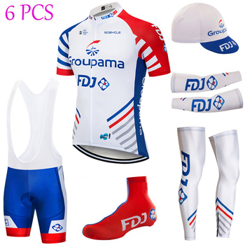 Equipo GROUPA FDJ Ciclismo JERSEY 20D bicicleta pantalones cortos traje completo Ropa...