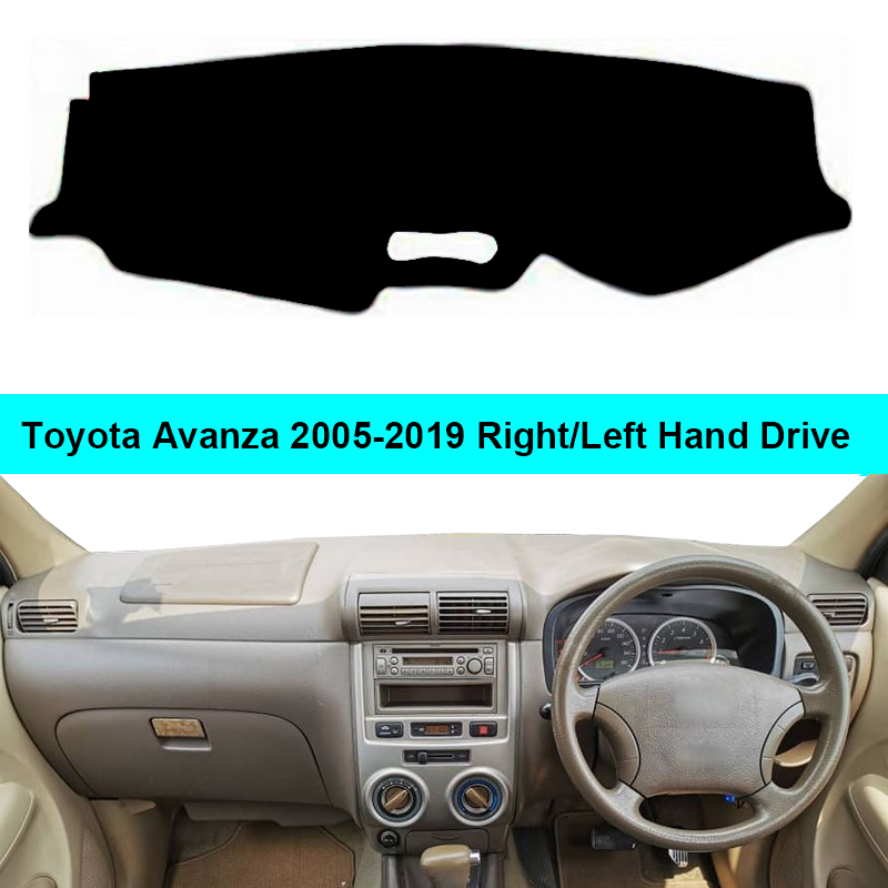 2 Layers Car Auto Dashboard Cover Carpet Cape For Toyota Avanza 2005 - 2015 2016 2017 2018 2019 Dash Mat Dashboard Pad Anti-UV