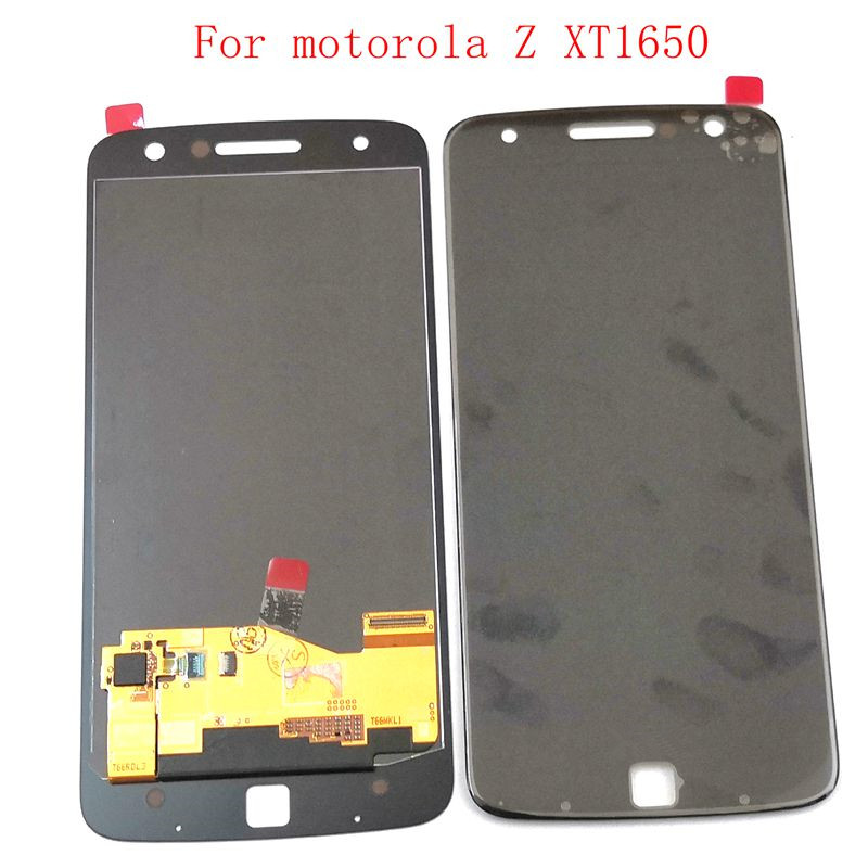 Highbirdfly Amoled For Motorola Moto Z Droid <font><b>XT1650</b></font> <font><b>Lcd</b></font> Screen Display with Touch Glass Digitizer Assembly Replacement image