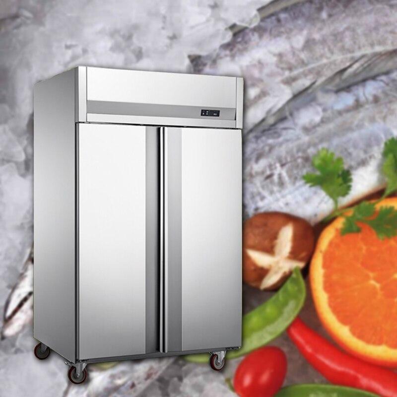 Двухдверный холодильник, коммерческий холодильник с воздушным охлаждением, шкаф для хранения свежего воздуха, мусс, противень для выпечки