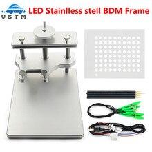 DHL ücretsiz paslanmaz çelik LED BDM çerçeve Galletto için FGTECH BDM100 Metal BDM çerçeve ECU programlama aracı
