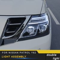 For Nissan Patrol Y62 Auto Car styling Front Head Light Assembly Exterior Replacement Parts
