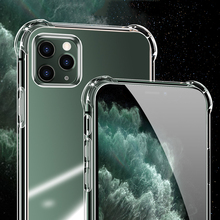 Phone Case For iPhone 11 X pro maxTransparent Silicone Phone Case for iphone XR XS Max 8 7 6 6SPlus Clear protection Back Cover