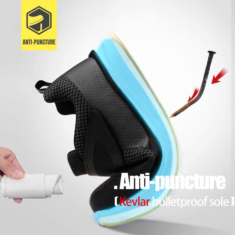 LARNMERN chaussures de sécurité pour hommes en acier orteil Construction chaussures de protection léger 3D antichoc travail chaussures de sport pour hommes - 3
