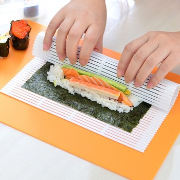 Sushi Maker Kit Rice Roll Mold Kitchen DIY Mould Roller Mat Rice Paddle Set dropshipping Bazooka Vegetable Meat Rolling kitchen image