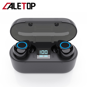 CALETOP Aptx Bluetooth Headphone TWS 5.0 Earphone Sports Headsets with Microphone Handsfreed LED Power Display Charging Case