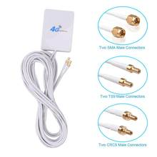 3g 4g lte antena ts9 crc9 sma conector 4g lte roteador antena externa para huawei 3g 4g lte roteador modem 2m cabo