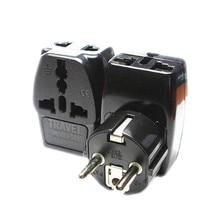 Socket Power-Adapter Eu-Plug UK Converter-Plug-Type Travel-Wall Universal 250v 10a AC