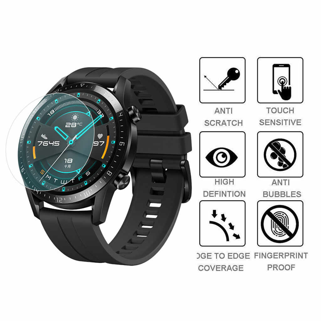 Voor Huawei Gt 2 42 Mm/46 Mm 1/3 Pc Tpu Hydrogel Zachte Transparante Screen Bescherming Film smart Horloge Smart Polsbandje Accessoires