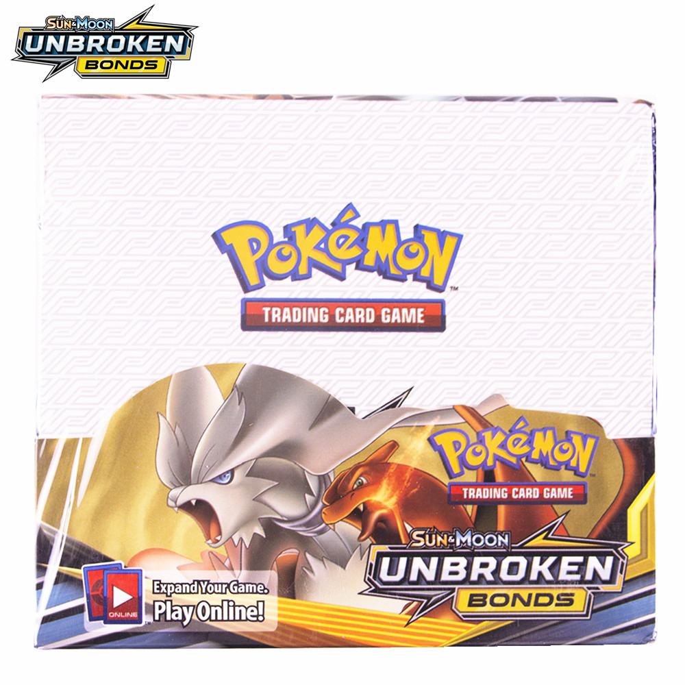 324Pcs Pokemon Card Sun & Moon Unbroken Bonds Box (Pack Of 36) Trading Card Game Kids Collection Toys