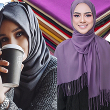 2019 New spring winter scarves for women shawls and wraps lady pashmina pure long cashmere head scarf hijabs
