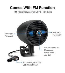 Image 2 - Lexin LX S3 סופר מוסיקה אודיו נגן עם FM רדיו מקלט Bluetooth רמקולים עבור אופנוע עמיד למים נייד סטריאו
