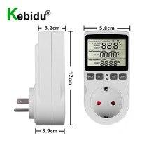 Enchufe controlador de temperatura Digital, salida con temporizador, interruptor, sonda del Sensor, termostato multifunción, refrigeración de calefacción, 16A, 220V