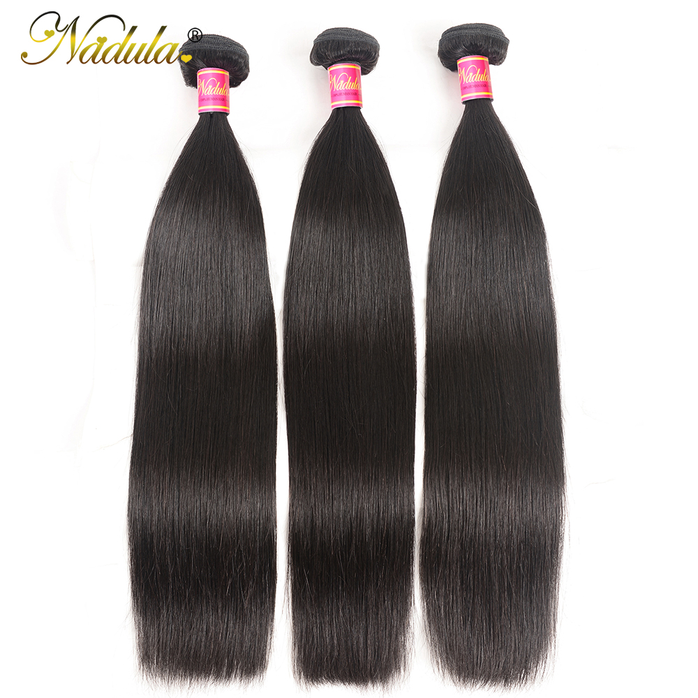 Nadula 3 Bundles Indian Hair Straight Human Hair Weaves 3piece/Lot Indian Straight Hair Bundles Natural Color Remy Hair