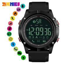 SKMEI Men Smartwatch Intelligent Relogio Masculino Military Sports Watches Bluetooth Pedometer Smart Wristwatch For Android IOS стоимость