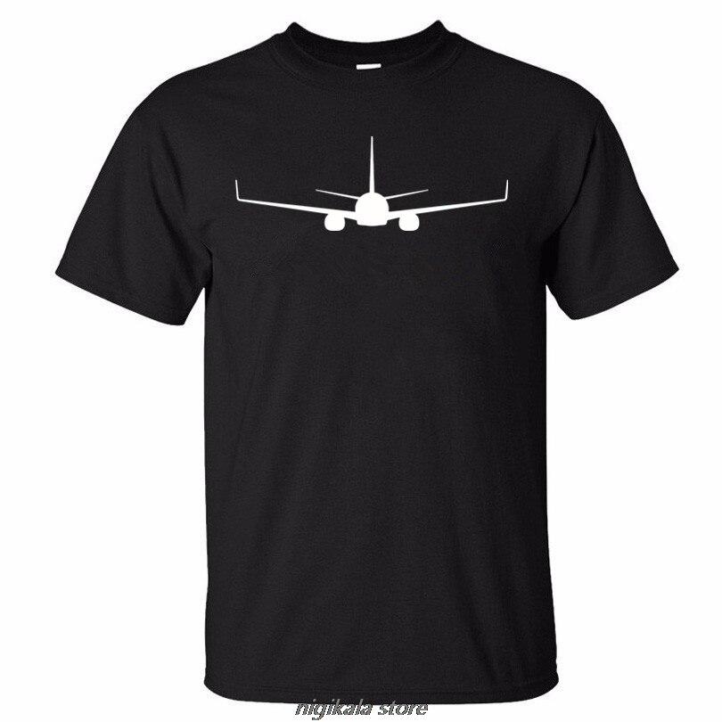High Quality Aircraft High Quality BOEING 737 PRINT Summer New Man  T Shirt New Men T-shirt Clothes K259xs 4xl5xl