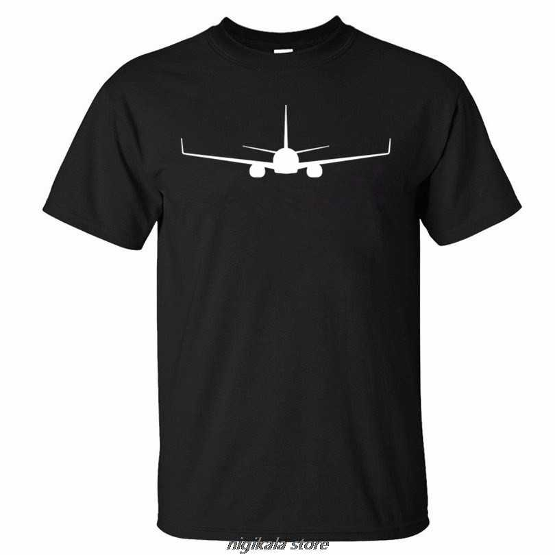 High quality aircraft High quality BOEING 737 PRINT summer new man  t shirt new men t-shirt clothes K259xs 4xl5xl