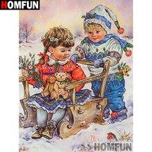 Diamond Embroidery Round-Drill Cross-Stitch Custom Photo Home-Decor Painting-Christmas-Square