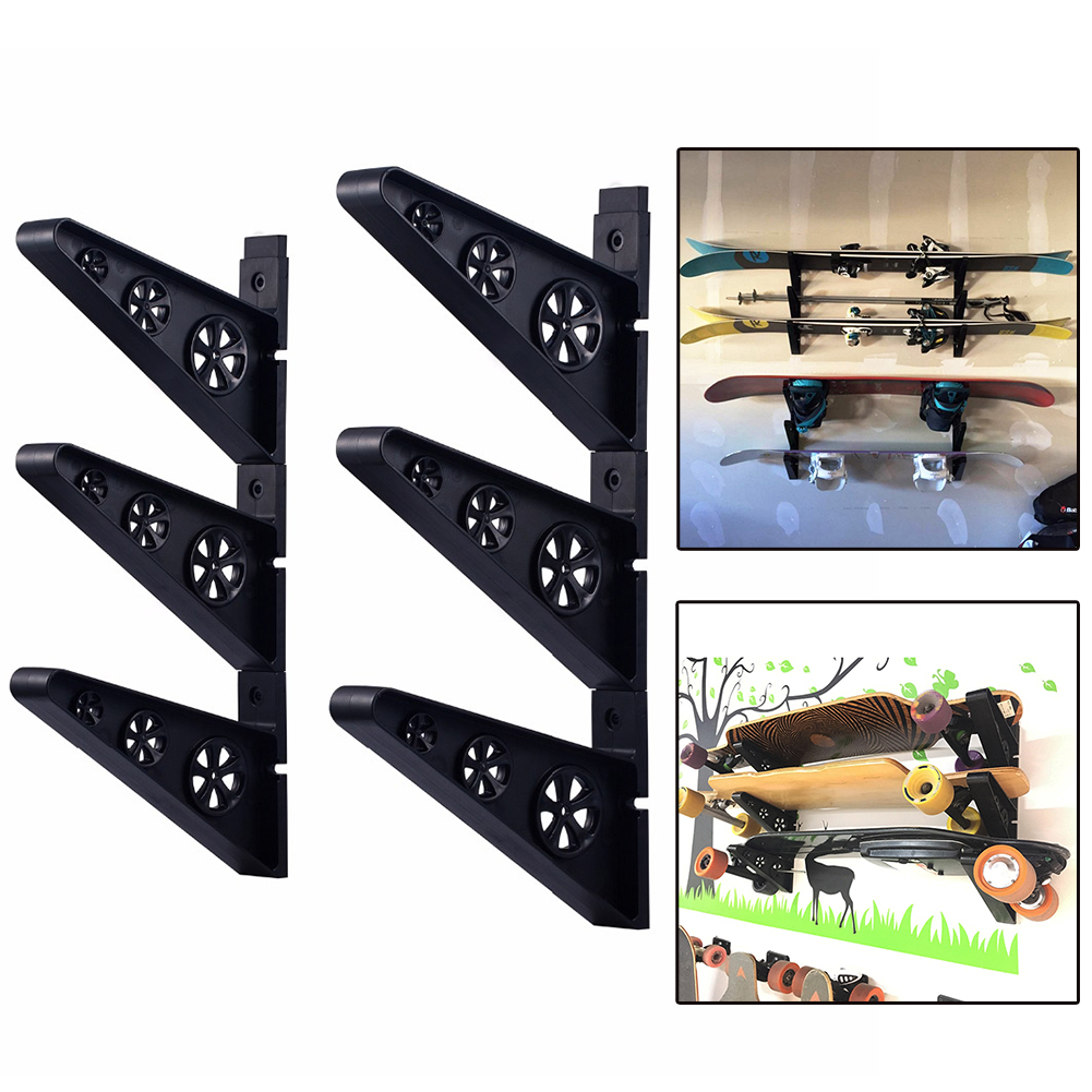 Durable Wall Mount Skateboard Deck Display Wall Mount Horizontal Hanger Rack Stable And Sturdy Longboard Storage Display Rack