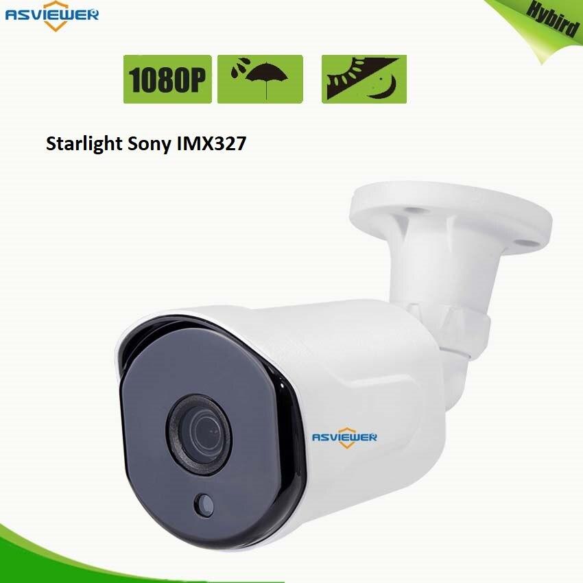 outdoor camera sony starvis starlight tvi ahd IMX327 cmos sensor ir cut filter 1080P hd infrared waterproof surveillance camera
