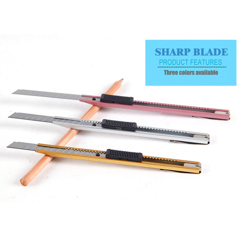 Small Theutilityknife Small Wallpaper Knife Paper Knife Cutter Penitently Bulk Stationery Knife Diy Tool Three Colors ASS026