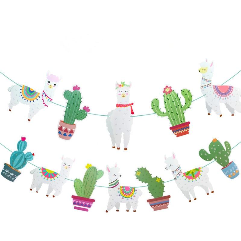 Ламы тема вечерние украшения баннеры для дня рождения Альпака Фольга воздушные шары на день рождения для детей Baby Shower ламы для студийной Фо...