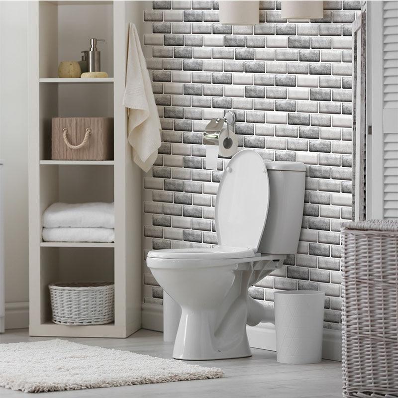 Irregular Shape Stone Brick Tile Wall Sticker 3d Self Adhesive Wallpaper Home Decor Living Room Bedroom Decoration Stickers