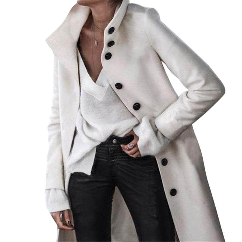 Women Autumn Winter Woollen Coat Long Sleeve Turn-Down Collar Oversize Outwear Jacket Elegant Overcoats Loose Plus Size Jackets