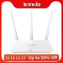 Tenda F3 300Mbps 2.4G موزع إنترنت واي فاي لاسلكي مكرر واي فاي ، واجهة الإنجليزية 1WAN + 3LAN الموانئ ، للمنزل الصغيرة والمتوسطة